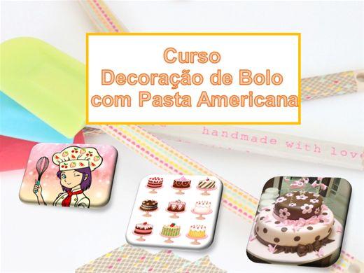 Curso Online de Decoração de Bolo  com Pasta Americana