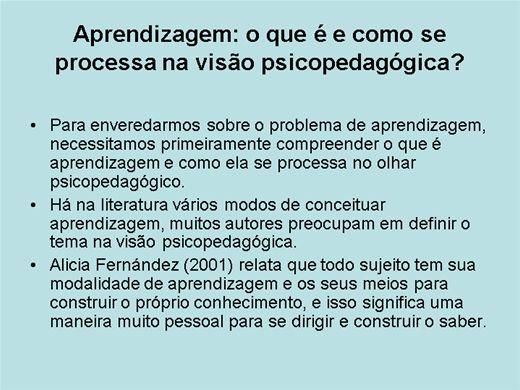 Curso Online de PROBLEMAS DE APRENDIZAGEM