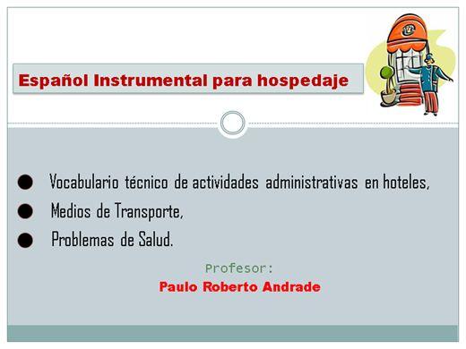 Curso Online de Espanhol Para Hospedagem I