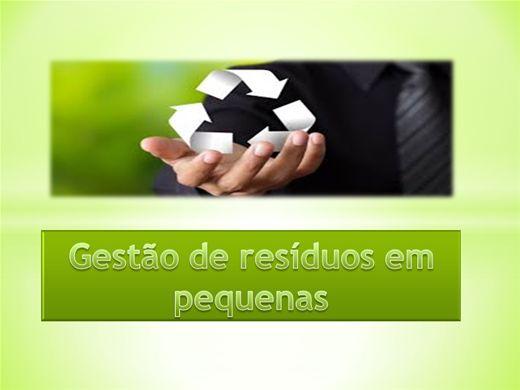 Curso Online de Gestão de resíduos em pequenas empresas
