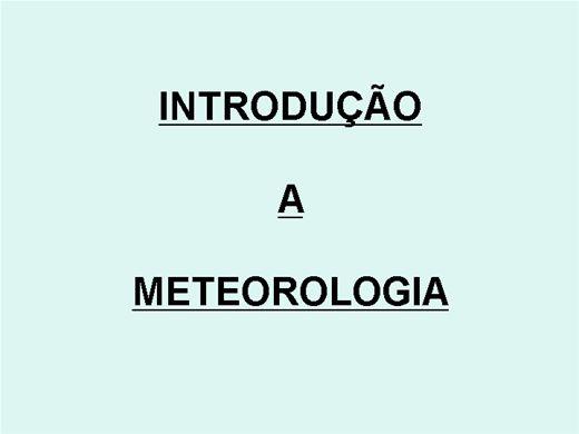 Curso Online de Introdução a Meteorologia Aeronáutica