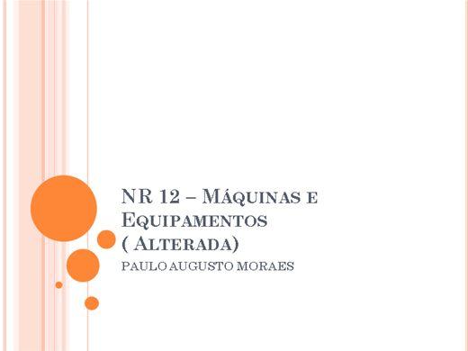 Curso Online de ATUALIZAÇÃO NR12 - MÁQUINAS E EQUIPAMENTOS