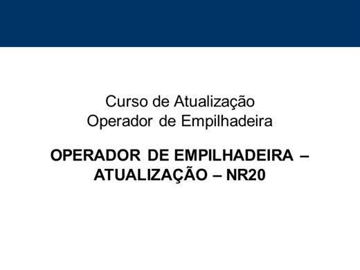 Curso Online de ATUALIZAÇÃO OPERADOR DE EMPILHADEIRA