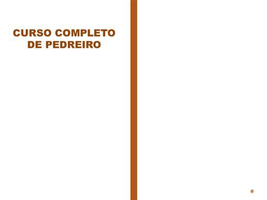 Curso Online de PEDREIRO