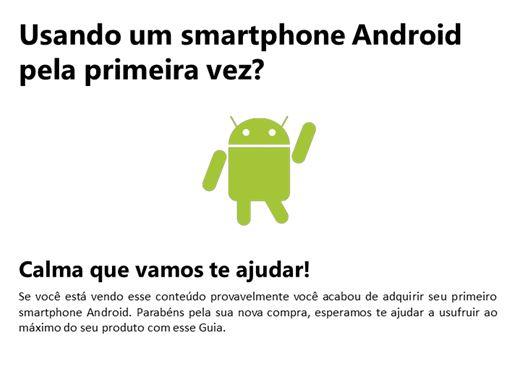 Curso Online de Usando um smartphone Android  pela primeira vez