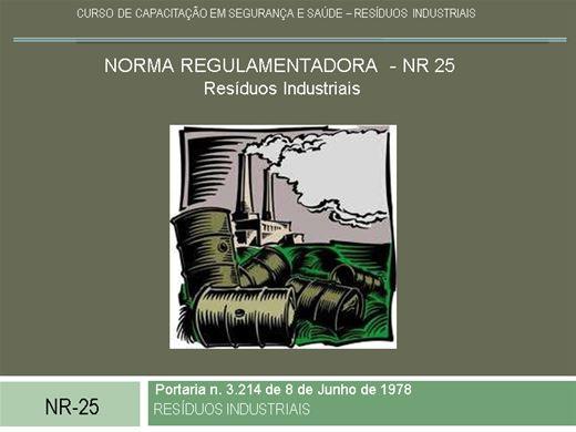 Curso Online de FORMAÇÃO NR25 - RESÍDUOS SÓLIDOS