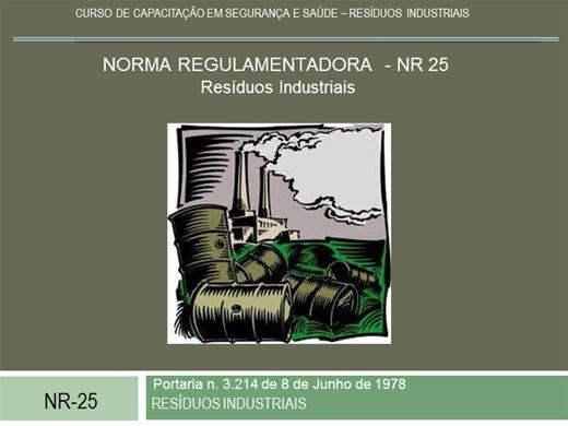 Curso Online de ATUALIZAÇÃO NR25 - RESÍDUOS SÓLIDOS