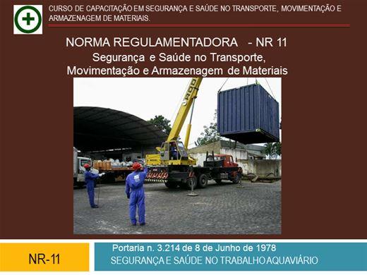 Curso Online de NR11 AVANÇADO