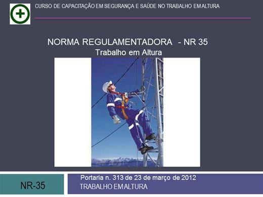 Curso Online de NR35 AVANÇADO - TRABALHO EM ALTURA