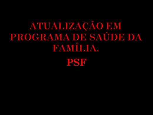 Curso Online de ATUALIZAÇÃO EM PROGRAMA DE SAÚDE DA FAMÍLIA