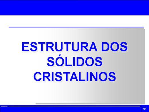 Curso Online de Estrutura dos Sólidos Cristalinos