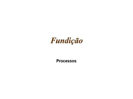 Curso Online de Fundição