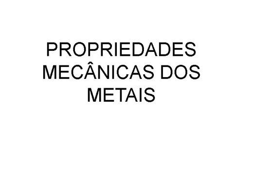Curso Online de Propriedades mecânicas dos metais