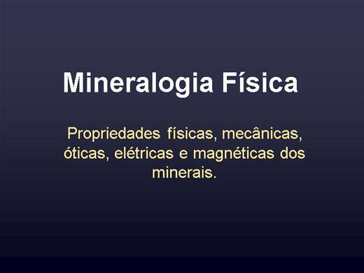 Curso Online de Propriedades físicas dos minerais