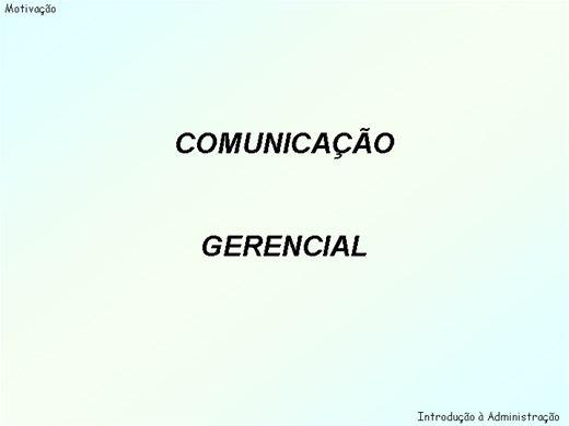 Curso Online de Comunicação gerencial