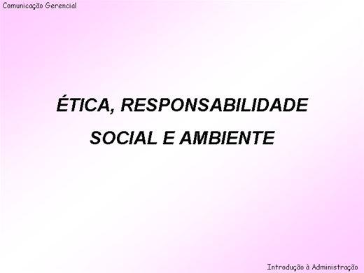 Curso Online de Ética, responsabilidade social e ambiental em organizações
