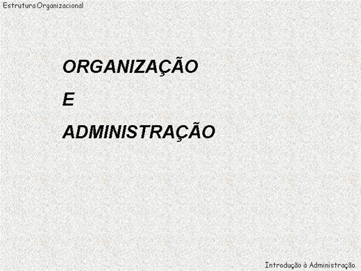Curso Online de Organização e administração