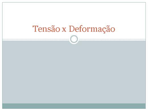 Curso Online de tensão x deformação
