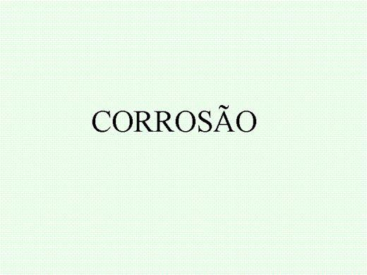 Curso Online de Corrosão