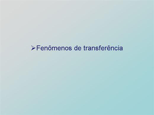 Curso Online de Fenômenos de transferência