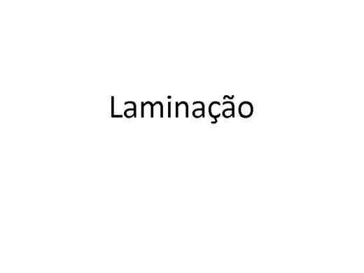Curso Online de Laminação