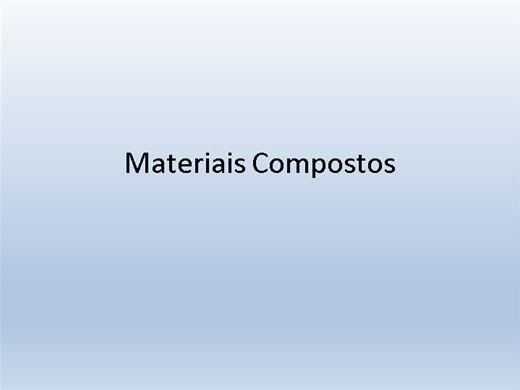 Curso Online de Materiais compostos