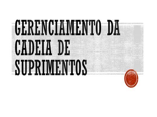 Curso Online de Cadeia de suprimentos - Logística