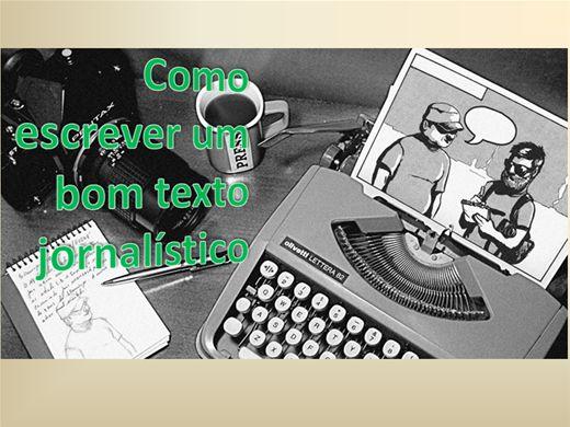 Curso Online de Como escrever um bom texto Jornalístico