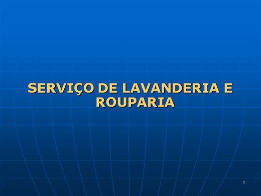 Curso Online de SERVIÇO DE LAVANDERIA E ROUPARIA