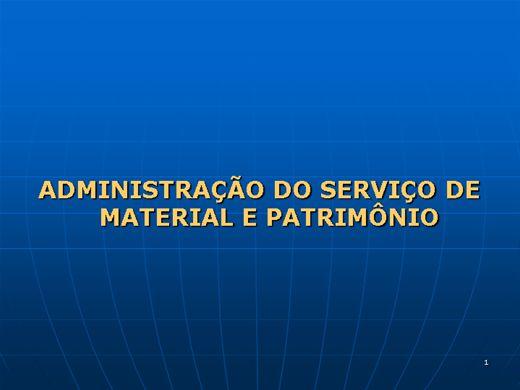 Curso Online de ADMINISTRAÇÃO DOS SERVIÇOS DE MATERIAIS E PATRIMÔNIO
