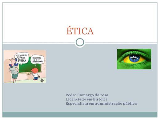 Curso Online de ÉTICA NA ADMINISTRAÇÃO PÚBLICA