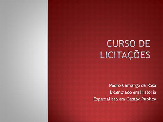 Curso Online de CURSO DE LICITAÇÕES NA PRÁTICA