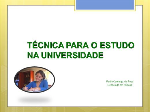 Curso Online de Técnica de Estudo