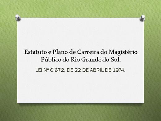 Curso Online de ESTATUTO E PLANO DE CARREIRA MAGISTÉRIO - RIO GRANDE DO SUL