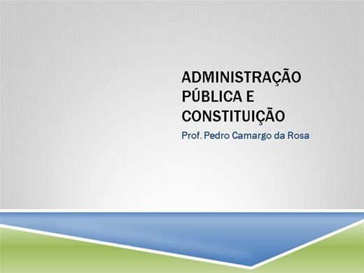 Curso Online de ADMINISTRAÇÃO PÚBLICA NA CONSTITUIÇÃO FEDERAL