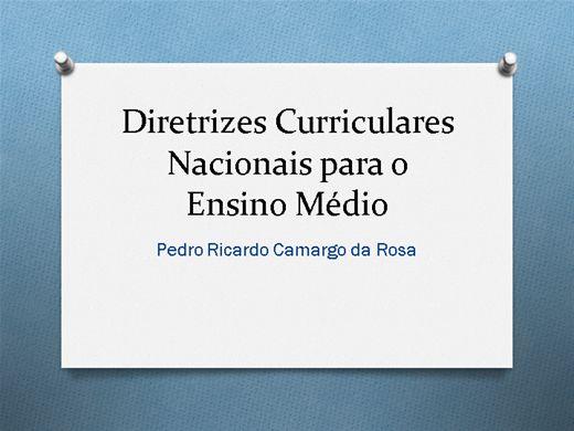 Curso Online de DIRETRIZES CURRICULARES DO ENSINO MÉDIO