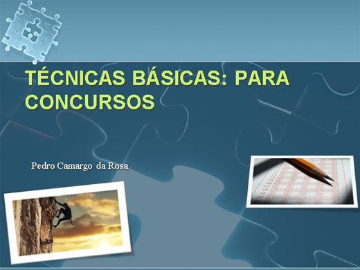 Curso Online de TÉCNICAS BÁSICAS: PARA CONCURSOS