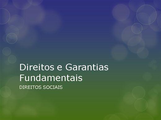 Curso Online de DIREITOS E GARANTIAS FUNDAMENTAIS - DIREITOS SOCIAIS