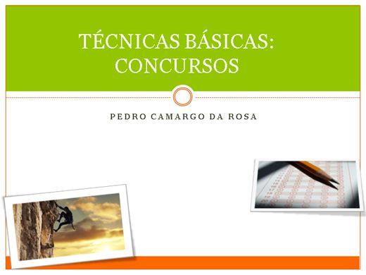 Curso Online de TÉCNICAS BÁSICAS: CONCURSOS PÚBLICOS