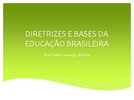 Curso Online de DIRETRIZES E BASES DA EDUCAÇÃO BRASILEIRA