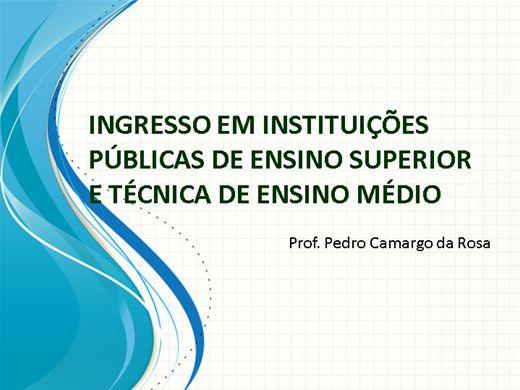 Curso Online de INGRESSO NO ENSINO SUPERIOR PÚBLICO