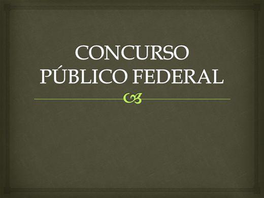 Curso Online de CONCURSO PÚBLICO FEDERAL