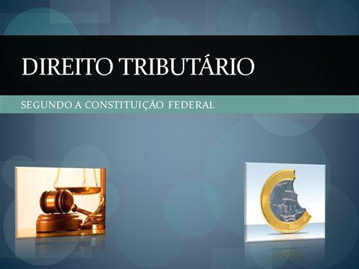 Curso Online de DIREITO TRIBUTÁRIO NA CONSTITUIÇÃO