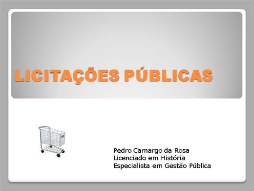 Curso Online de LICITAÇÕES PÚBLICAS