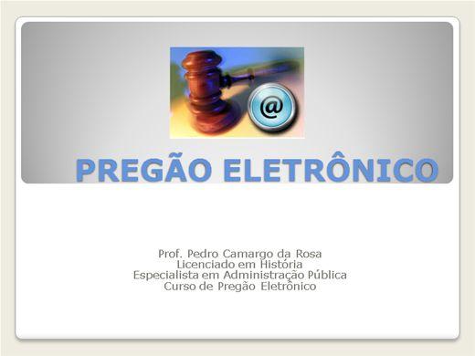 Curso Online de PREGÃO ELETRÔNICO