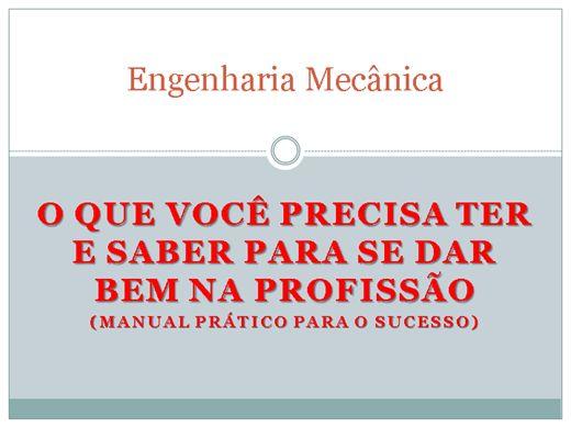 Curso Online de Engenharia Mecânica - Manual prático para o sucesso