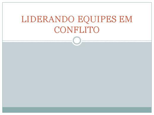 Curso Online de LIDERANDO EQUIPES EM CONFLITO