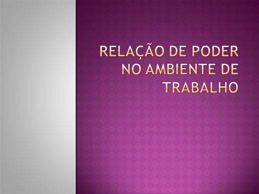 Curso Online de RELAÇÃO DE PODER NO AMBIENTE DE TRABALHO