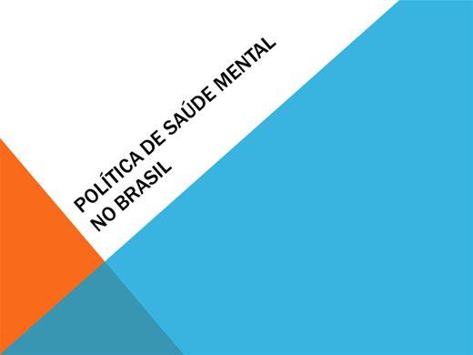 Curso Online de A SAÚDE MENTAL NO BRASIL