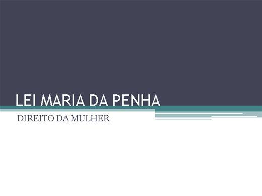 Curso Online de LEGISLAÇÃO: MARIA DA PENHA